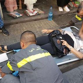 بالصور: جريحة بحادث صدم في برج حمود