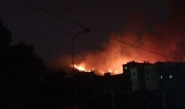 بالفيديو والصور: حريق كبير في المشرف
