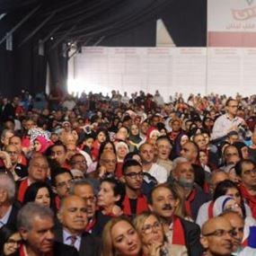 """خاص بالفيديو-""""لبنان حرزان"""" في البيال ومهرجان انتخابي حاشد!"""