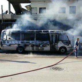 بالصورة: اندلاع حريق بفان على طريق عام حلبا