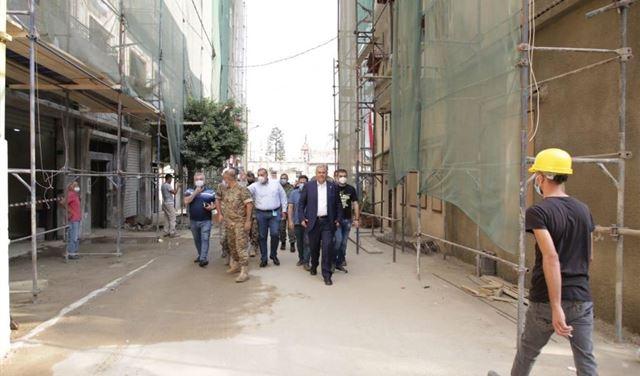جولةٌ لـ محافظ بيروت على الأماكن المتضررة