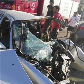 بالصور: 4 جرحى اثر حادث سير على طريق عام جل البحر- صور