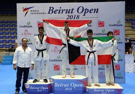 نتائج بطولة بيروت المفتوحة بالتايكواندو لليوم الثاني