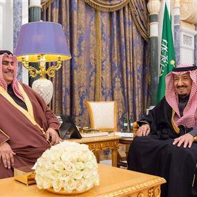 تفاصيل لقاء الملك سلمان مع وزير الخارجية البحريني