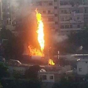 حريق كبير في القبة طرابلس.. وتخوف من انفجار!
