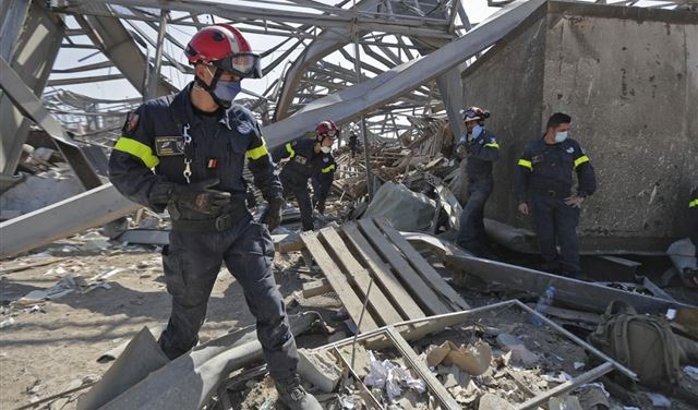 انفجار بيروت... انتشال 5 جثث لشهداء جدد