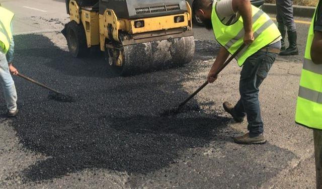 بالصور: بدء أعمال صيانة الأوتوستراد من نهر ابراهيم إلى نهر الكلب