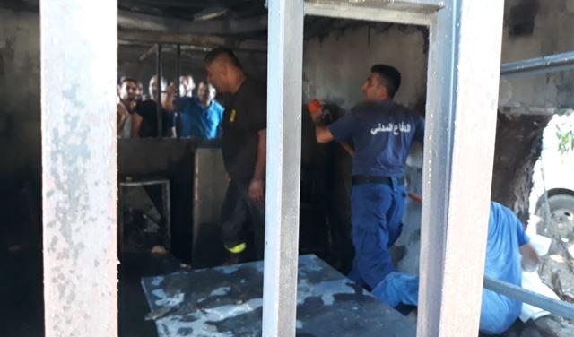 وفاة شاب بحريق في خراج بلدة قبة شمرا