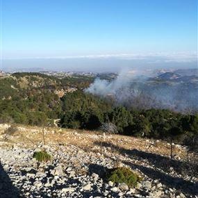 بالصور: انتهاء عمليات اخماد النيران في القبيات