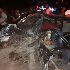 بالصور.. حادث سير مروع في حلة