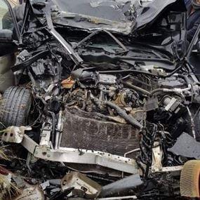 بالصور: حادث سير مأساوي في النبطية