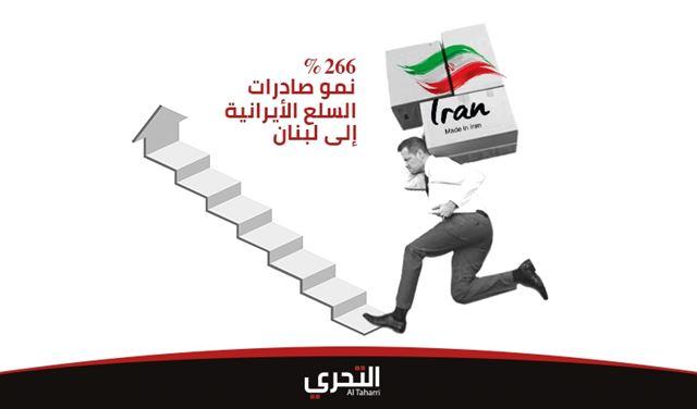 التغلغل الفارسي في لبنان: نمو صادرات ايران السلعية إلى بلاد الأرز بنسبة 266% خلال 5 أشهر