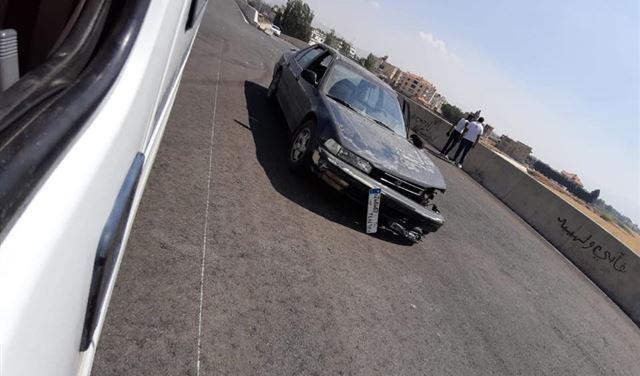 بالصورة: جريحان اثر حادث في مجدل عنجر