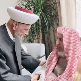 دريان التقى مفتي السعودية في مكة