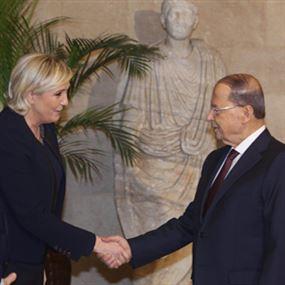 لقاء عون ومرشحة الرئاسة الفرنسية مارين لوبن