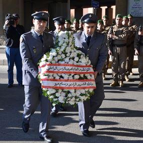 وضع أكاليل في الحازمية في ذكرى استشهاد وسام عيد
