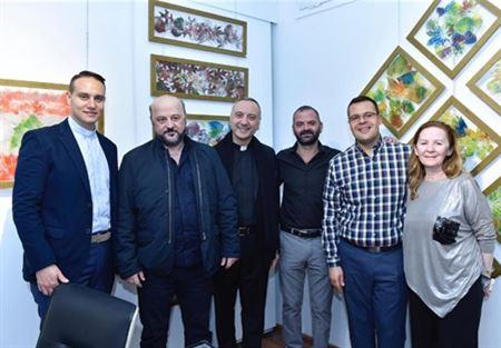 """الرياشي افتتح معرض """"كاموفلاج"""" للفنان ابراهيم سماحة"""