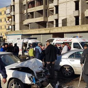 بالصورة: جريحان بحادث سير في أبي سمراء - طرابلس