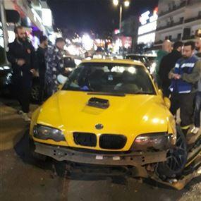 أربعة جرحى اثر حادث صدم في زوق مصبح