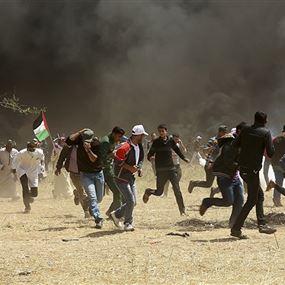 مقتل فلسطيني وإصابة 156 خلال مسيرات العودة شرق غزة