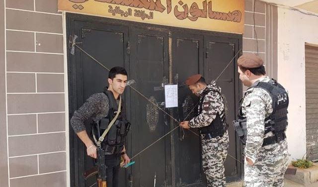 بالصور: الأمن العام يقفل محالاً تابعة لسوريين في بعلبك