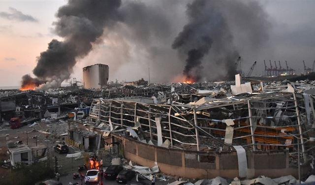 """انفجار بيروت... تدعيم سقف مبنى """"الخارجية"""""""