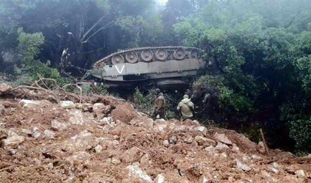 دبابة اسرائيلية تعطل المناورات على الحدود مع لبنان